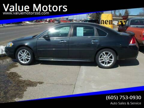 2013 Chevrolet Impala for sale at Value Motors in Watertown SD