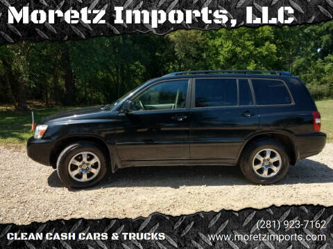 2005 Toyota Highlander for sale at Moretz Imports, LLC in Spring TX