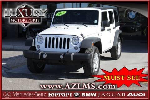 2017 Jeep Wrangler Unlimited for sale at Luxury Motorsports in Phoenix AZ