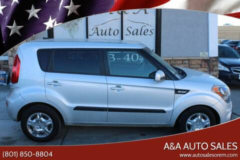 2012 Kia Soul for sale at A&A Auto Sales in Orem UT