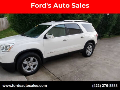 2008 GMC Acadia for sale at Ford's Auto Sales in Kingsport TN