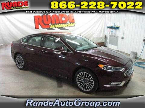 2017 Ford Fusion for sale at Runde PreDriven in Hazel Green WI