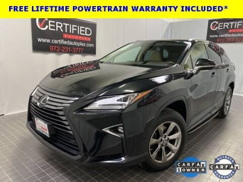 2018 Lexus RX 350L for sale at CERTIFIED AUTOPLEX INC in Dallas TX