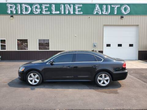 2013 Volkswagen Passat for sale at RIDGELINE AUTO in Chubbuck ID