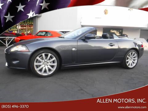 2007 Jaguar XK-Series for sale at Allen Motors, Inc. in Thousand Oaks CA