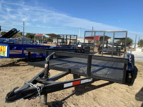 """2020 P & C  - UTILITY 77"""" X 12' - Ta for sale at LJD Sales in Lampasas TX"""