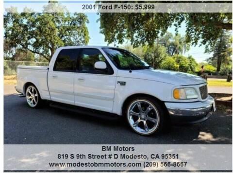 2001 Ford F-150 for sale at BM Motors in Modesto CA