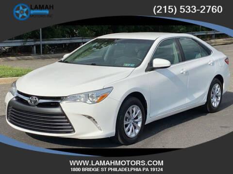 2015 Toyota Camry for sale at LAMAH MOTORS INC in Philadelphia PA
