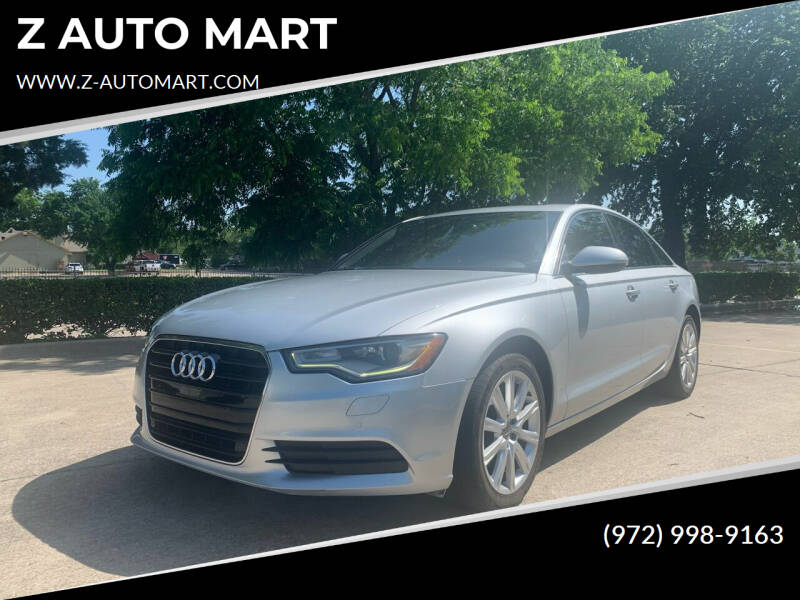 2013 Audi A6 for sale at Z AUTO MART in Lewisville TX