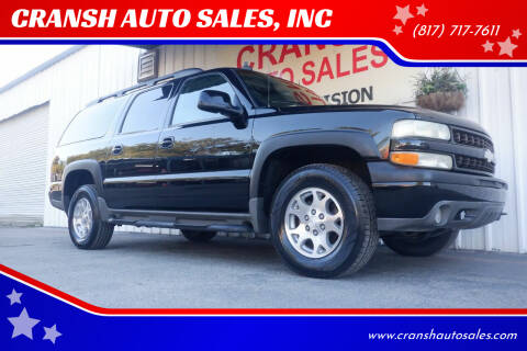 2003 Chevrolet Suburban for sale at CRANSH AUTO SALES, INC in Arlington TX