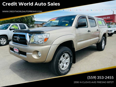 2006 Toyota Tacoma for sale at Credit World Auto Sales in Fresno CA