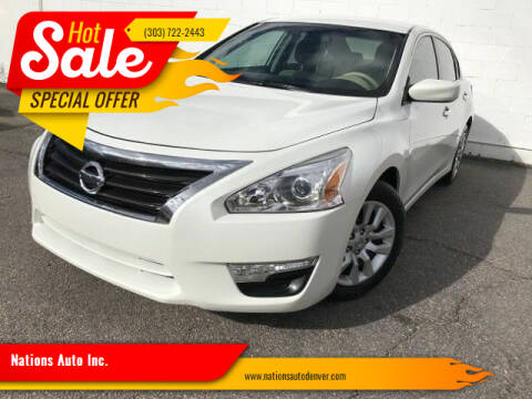 2015 Nissan Altima for sale at Nations Auto Inc. in Denver CO