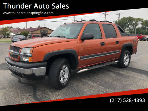 2004 Chevrolet Avalanche for sale at Thunder Auto Sales in Springfield IL