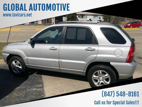 2005 Kia Sportage for sale at GLOBAL AUTOMOTIVE in Grayslake IL