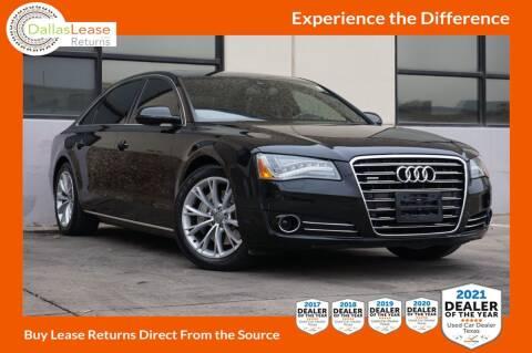 2013 Audi A8 L for sale at Dallas Auto Finance in Dallas TX