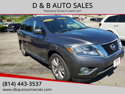 2014 Nissan Pathfinder for sale at D & B AUTO SALES in Somerset PA