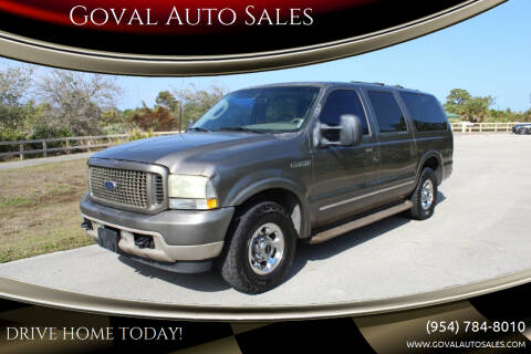 2003 Ford Excursion for sale at Goval Auto Sales in Pompano Beach FL