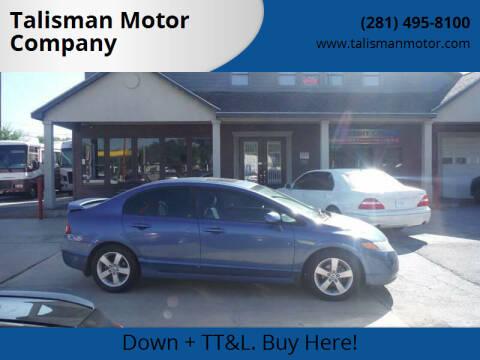 2008 Honda Civic for sale at Talisman Motor Company in Houston TX