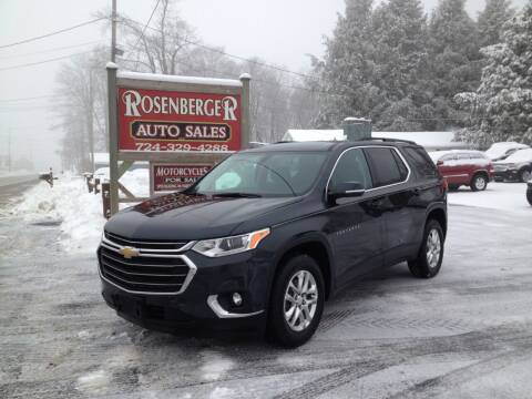 2020 Chevrolet Traverse for sale at Rosenberger Auto Sales LLC in Markleysburg PA