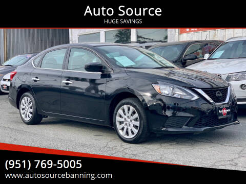 2019 Nissan Sentra for sale at Auto Source in Banning CA
