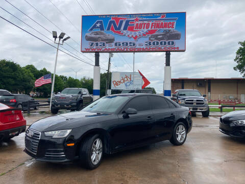 2017 Audi A4 for sale at ANF AUTO FINANCE in Houston TX