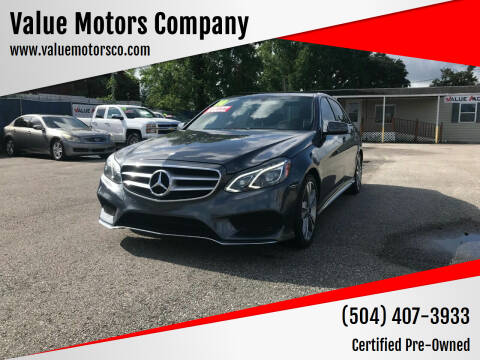 2014 Mercedes-Benz E-Class for sale at Value Motors Company in Marrero LA