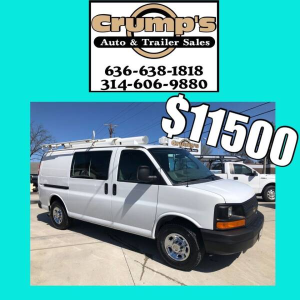 2010 Chevrolet Express Cargo for sale at CRUMP'S AUTO & TRAILER SALES in Crystal City MO
