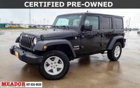 2018 Jeep Wrangler JK Unlimited for sale at Meador Dodge Chrysler Jeep RAM in Fort Worth TX