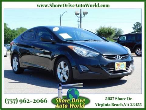 2013 Hyundai Elantra for sale at Shore Drive Auto World in Virginia Beach VA
