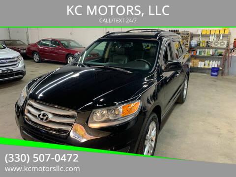 2012 Hyundai Santa Fe for sale at KC MOTORS, LLC in Boardman OH