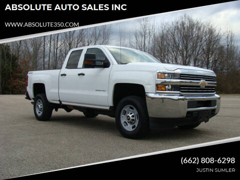 2016 Chevrolet Silverado 2500HD for sale at ABSOLUTE AUTO SALES INC in Corinth MS
