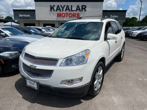 2012 Chevrolet Traverse for sale at KAYALAR MOTORS in Houston TX