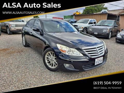2009 Hyundai Genesis for sale at ALSA Auto Sales in El Cajon CA