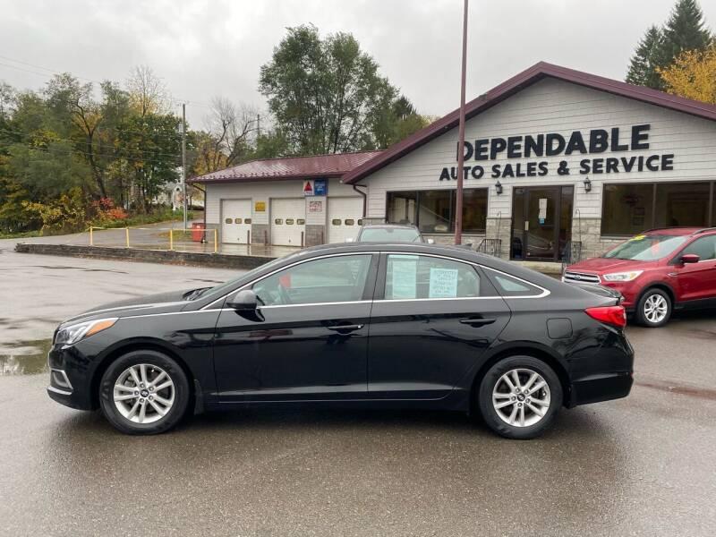 2017 Hyundai Sonata for sale at Dependable Auto Sales and Service in Binghamton NY