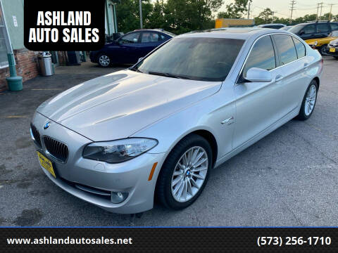 2012 BMW 5 Series for sale at ASHLAND AUTO SALES in Columbia MO