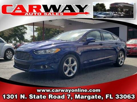 2013 Ford Fusion for sale at CARWAY Auto Sales in Margate FL
