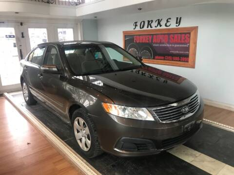 2009 Kia Optima for sale at Forkey Auto & Trailer Sales in La Fargeville NY