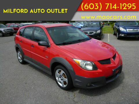 2004 Pontiac Vibe for sale at Milford Auto Outlet in Milford NH