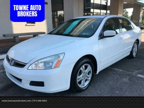 2006 Honda Accord for sale at TOWNE AUTO BROKERS in Virginia Beach VA