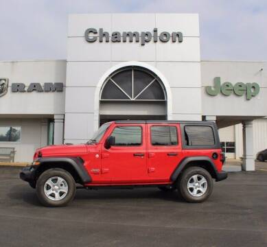 2020 Jeep Wrangler Unlimited for sale at Champion Chevrolet in Athens AL