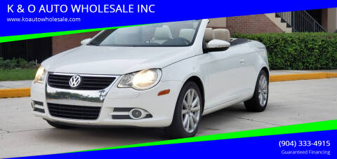 2010 Volkswagen Eos for sale at K & O AUTO WHOLESALE INC in Jacksonville FL