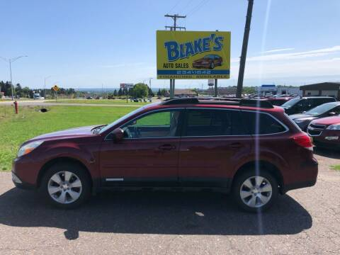2011 Subaru Outback for sale at Blake's Auto Sales in Rice Lake WI
