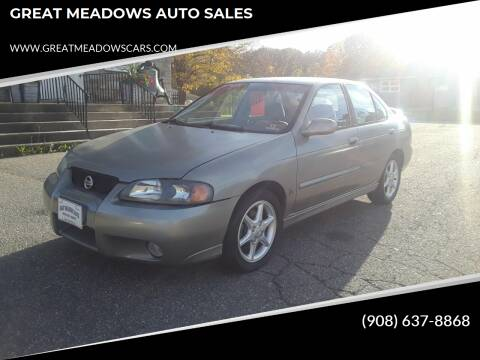 2002 Nissan Sentra for sale at GREAT MEADOWS AUTO SALES in Great Meadows NJ