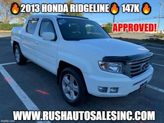 2013 Honda Ridgeline for sale at RUSH AUTO SALES in Burlington NC
