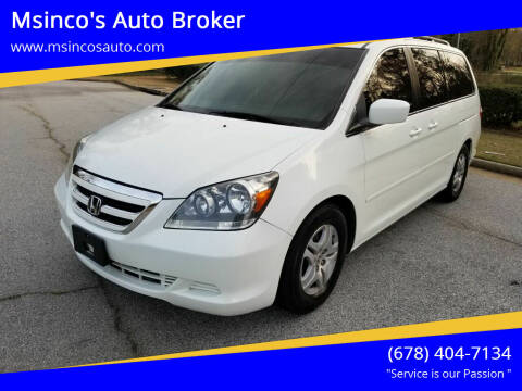 2007 Honda Odyssey for sale at Msinco's Auto Broker in Snellville GA
