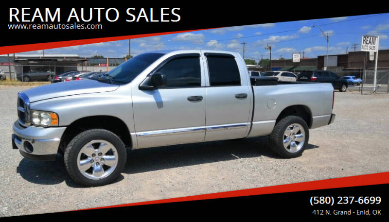 2005 Dodge Ram Pickup 1500 for sale at REAM AUTO SALES in Enid OK
