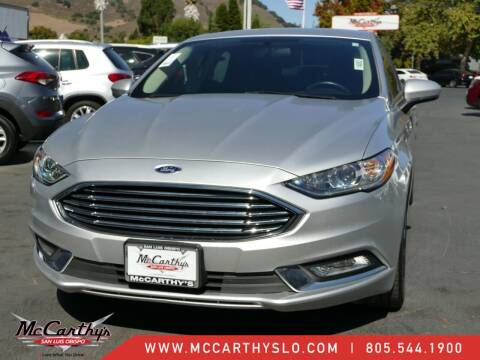 2018 Ford Fusion for sale at McCarthy Wholesale in San Luis Obispo CA