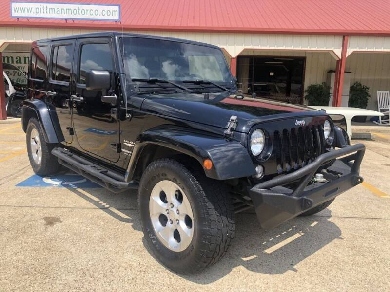 2015 Jeep Wrangler Unlimited for sale at PITTMAN MOTOR CO in Lindale TX