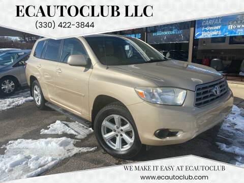 2008 Toyota Highlander for sale at ECAUTOCLUB LLC in Kent OH