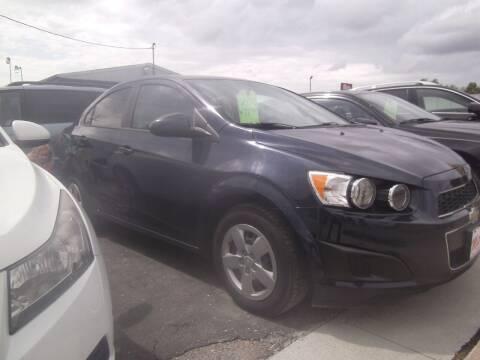 2015 Chevrolet Sonic for sale at MITRISIN MOTORS INC in Oskaloosa IA